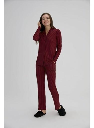 Eros Pijama Takım Bordo